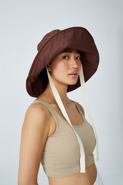 Alice Wide Brim Sun Hat, ACORN