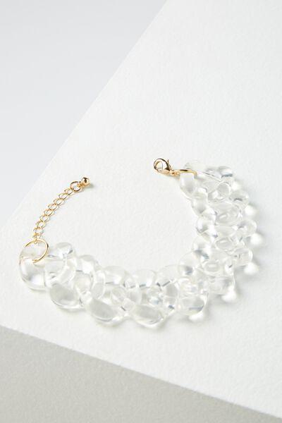 Olinda Bracelet, CLEAR/GOLD