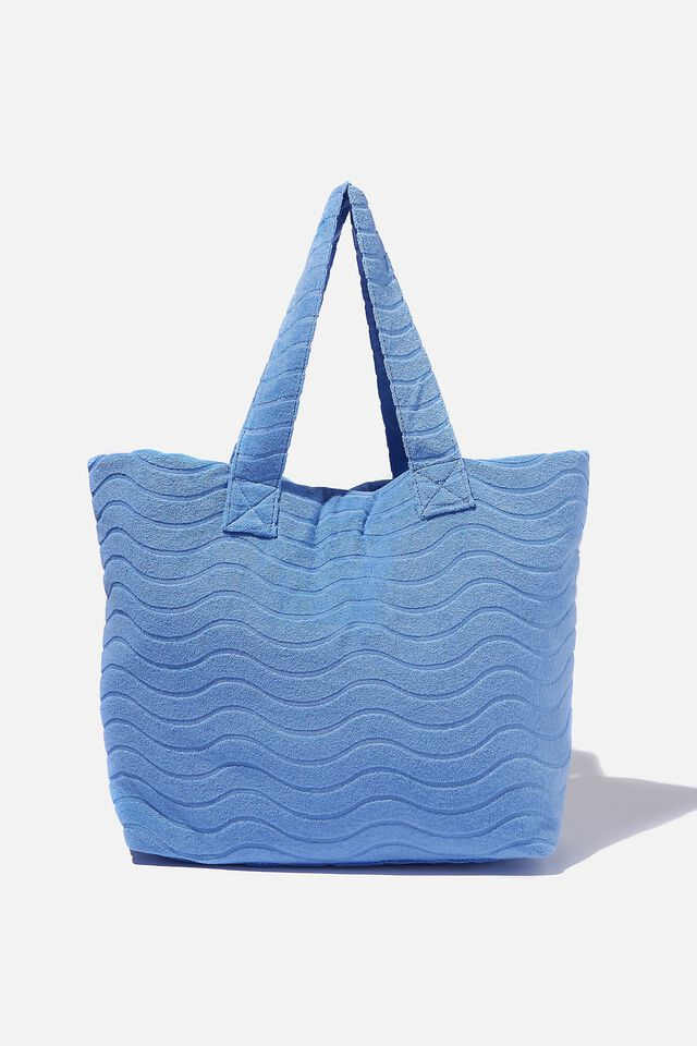 Textured Tote, SILVER LAKE BLUE