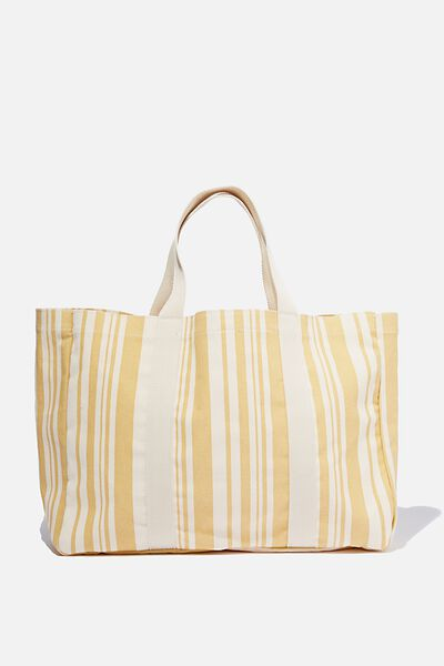 Bondi Beach Bag, YELLOW STRIPE