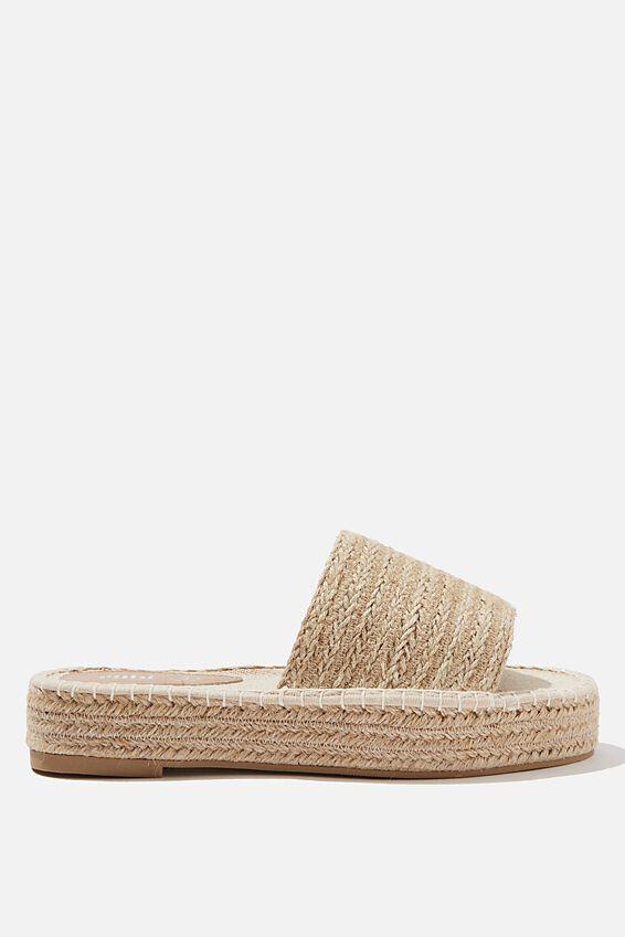 Hayley Flatform Espadrille Sandal, SAND JUTE