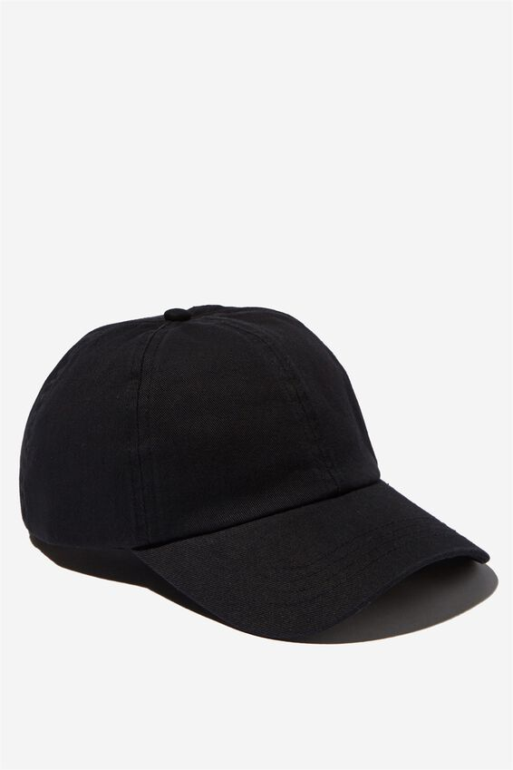 Kaia Cap, WASHED BLACK TWILL