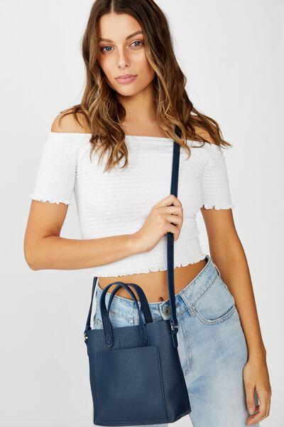 Monique Mini Cross Body Bag, NAVY