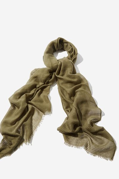 Lily Light Weight Scarf, BURNT OLIVE