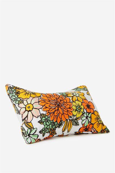 Waikiki Inflatable Pillow, WHITE LISA FLORAL