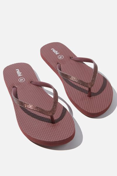 The Rubi Flip Flop, WINE GLITTER STRAP