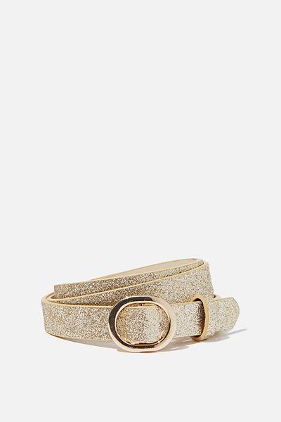 Mila Belt, GOLD GLITTER