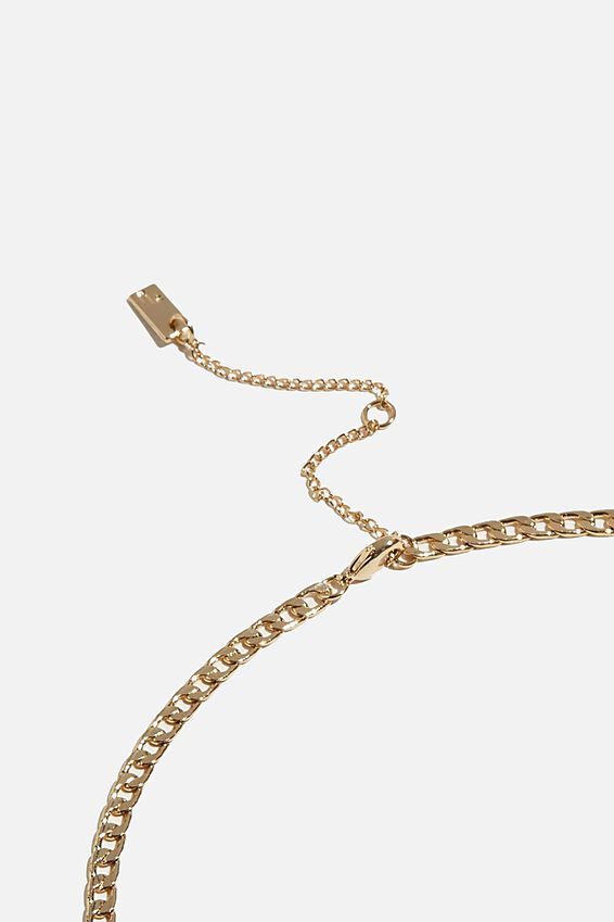 Premium Single Chain Necklace, GOLD PLATED CURB CHAIN