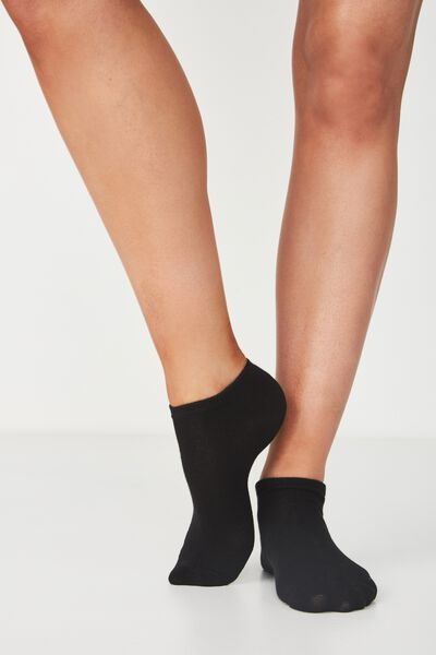 Bd 3Pk Ankle Sock, BLACK