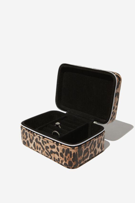 Medium Jewellery Box, NATURAL LEOPARD