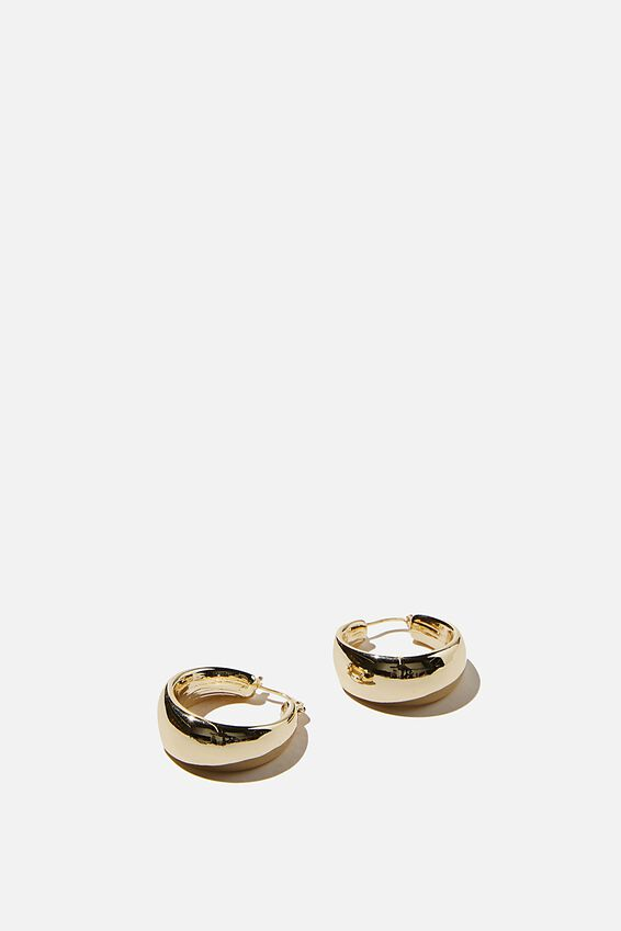 Premium Mid Hoop, GOLD PLATED CHUNKY