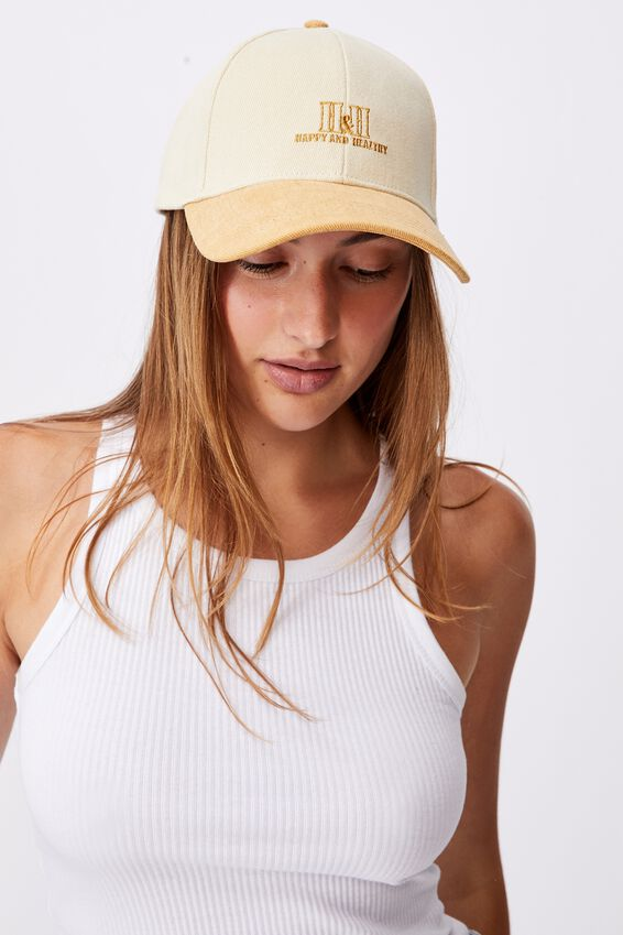 Hailey Structured Cap, RETRO YELLOW/HAPPY AND HEALTHY