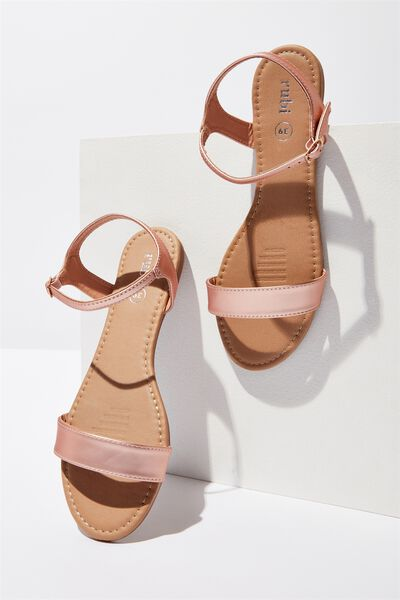 Everyday Thin Strap Sandal, ROSE GOLD
