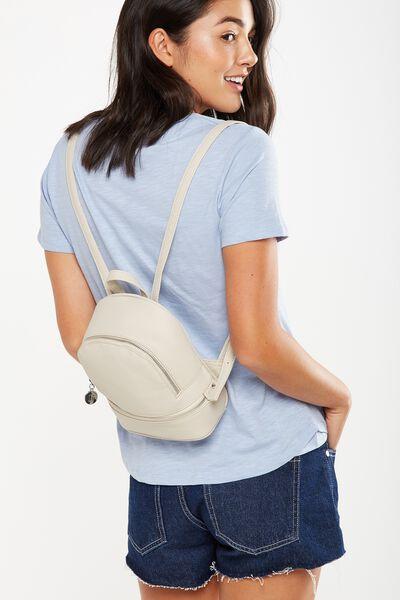Mini Mia Backpack, STONE