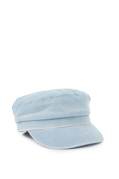 Bailey Baker Boy Cap, DENIM