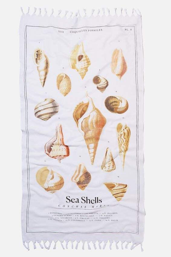 Coogee Lightweight Towel, SEA SHELLS