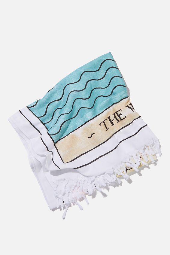 Coogee Lightweight Towel, THE WAVES