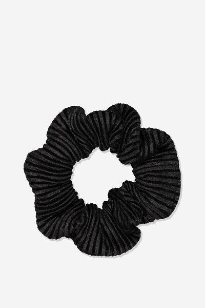 So Me Scrunchie, BLACK VELVET PLEAT