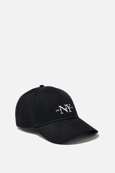 Selina Structured Cap, BLACK/NEW YORK CITY