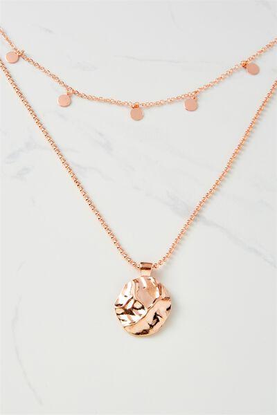 Positano Necklace, ROSE GOLD