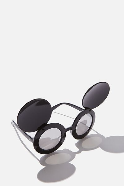 Lcn Mickey Novelty Sunglasses, BLACK