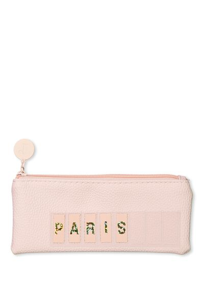 Personalised Mini Cosmetic Case, MATTE BABY PINK