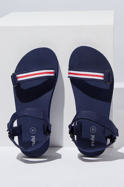 Stormy Sporty Sandal, NAVY SPORTY STRIPE
