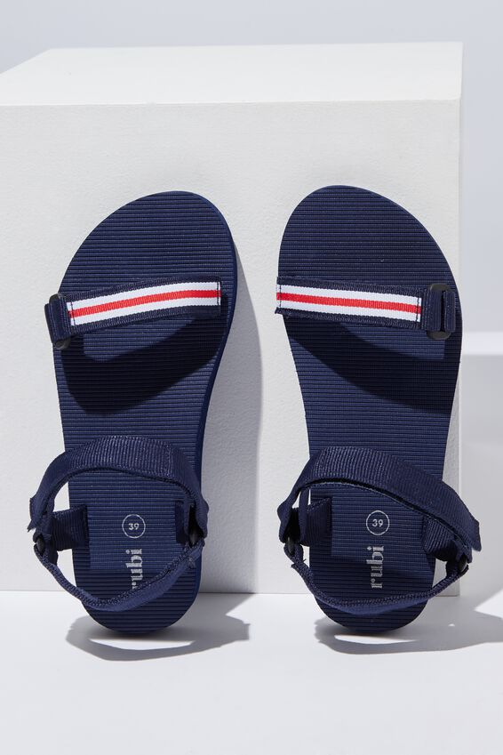 Stormy Sporty Sandal, NAVY SPORTY STRIPE
