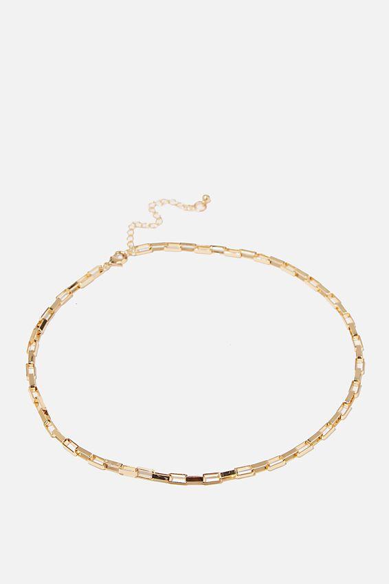 Treasures Single Chain Necklace, GOLD BOX CHAIN