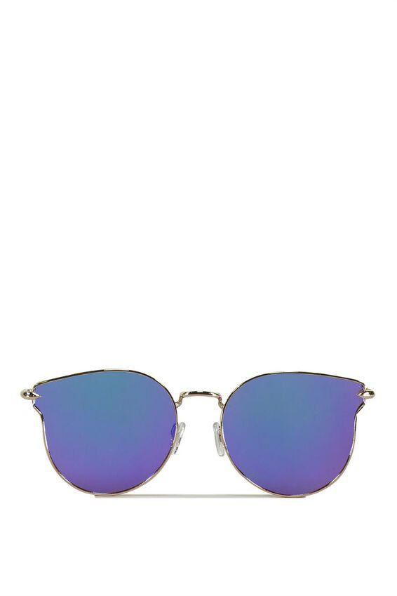 Wing It Metal Sunglasses, GOLD/BLUE