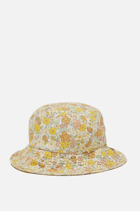 Bianca Bucket Hat, LEMON MAGGIE DITSY FLORAL