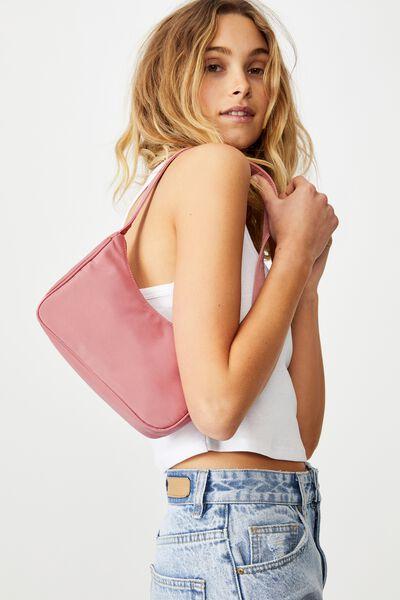 Nylon Underarm Bag, ROSE TAN