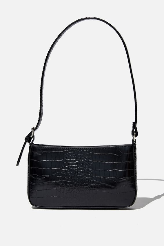 Lexi Underarm Bag, BLACK TEXTURE