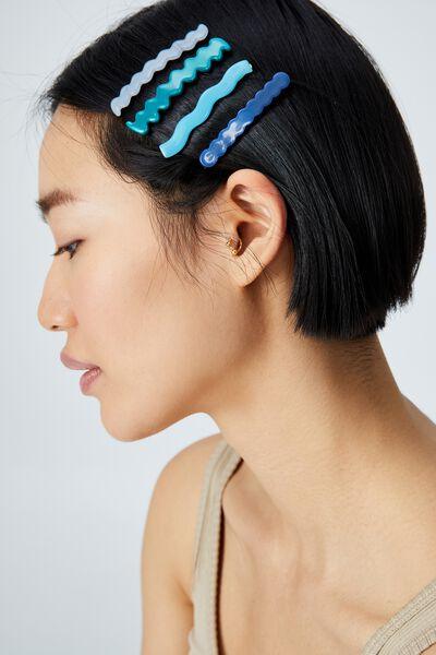 Melissa Hair Slides, BLUE