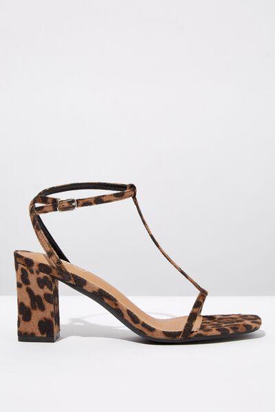 Mila Double Strap Heel, LEO MICRO
