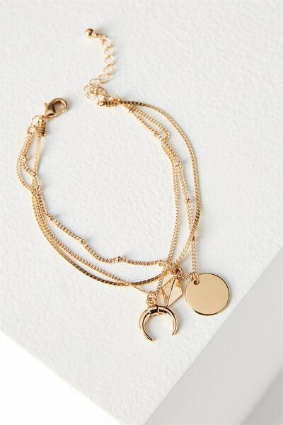 Ophelia Layer Bracelet, GOLD