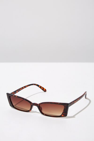 Tayla Square Frame Sunglass, CRYSTAL TORT