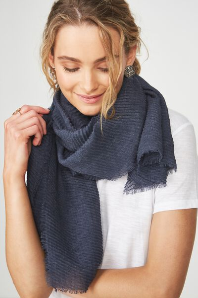 Penny Pleated Midweight Scarf, MOONLIGHT PLEAT
