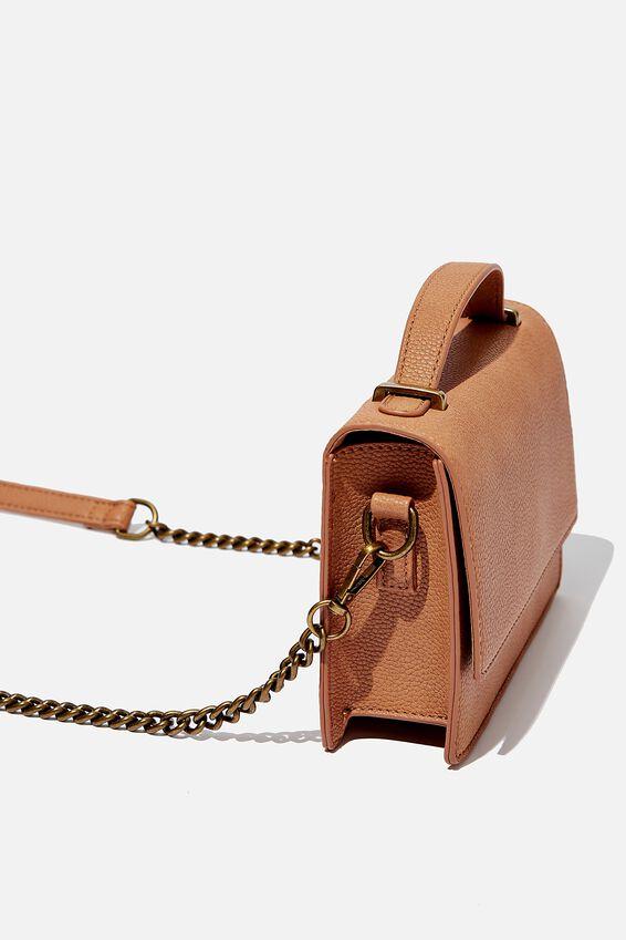 Aria Chain Strap Cross Body Bag, TAN