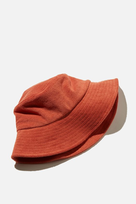 Bianca Bucket Hat, TERRACOTTA TERRY