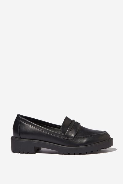 Lucy Loafer, BLACK PU