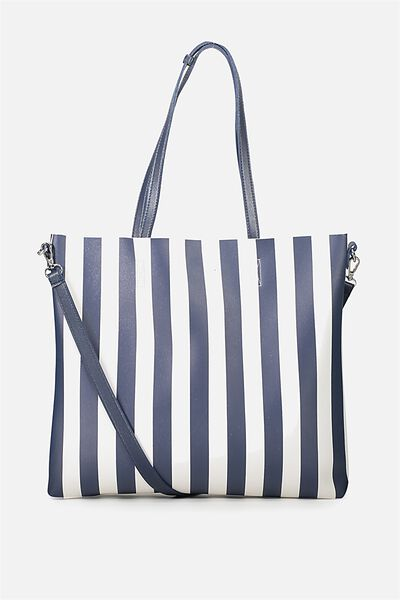 Boss Tote, NAVY STRIPE