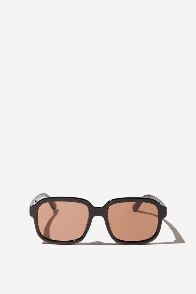 Stevie Square Sunglasses, BLACK/BROWN