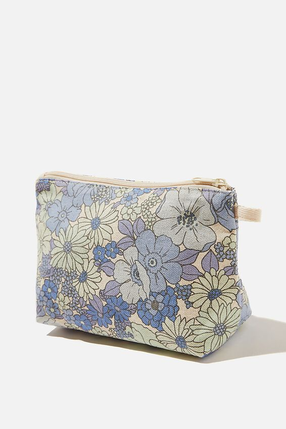 Cosmetic Pouch, QUINN FLORAL AUTHENTIC BLUE