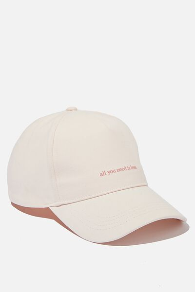 Selina Structured Cap, BLUSH/YOU NEED LESS