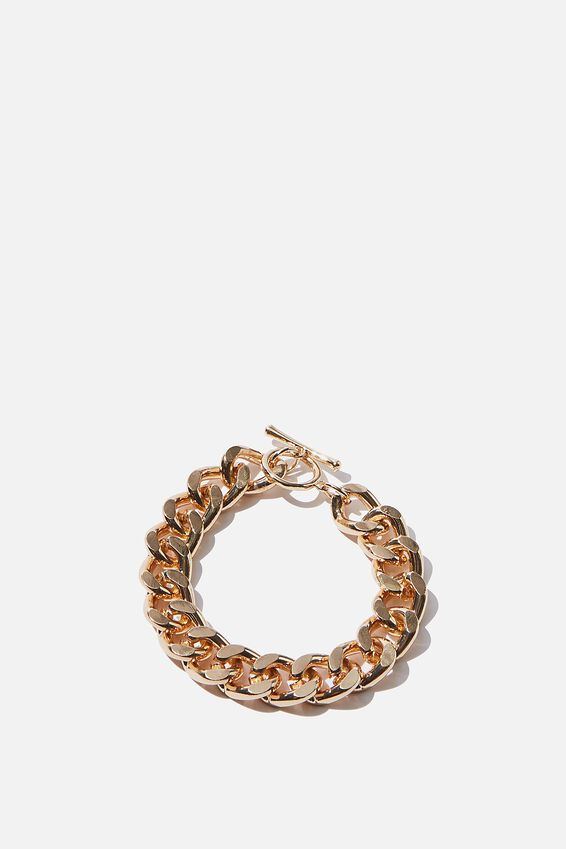 Luxe Layers Curb Chain Bracelet, GOLD