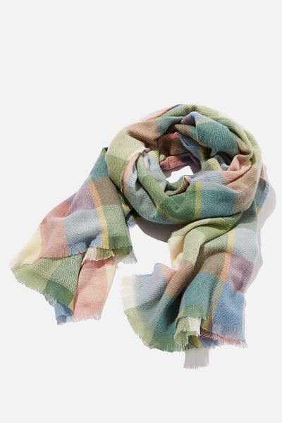 Millie Mid Weight Scarf, PINE GREEN CHANTELLE CHECK