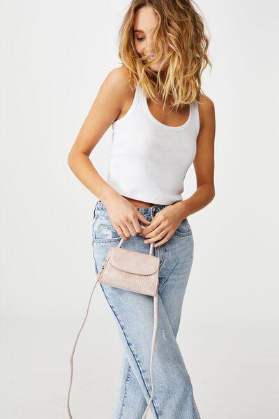 Lola Cross Body Bag, BLUSH TEXTURE