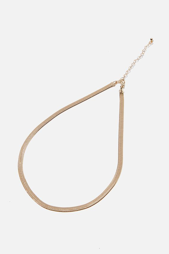 Treasures Single Chain Necklace, GOLD HERRINGBONE CHAIN