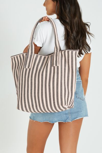 Essential Weekend Tote, BLUSH STRIPE